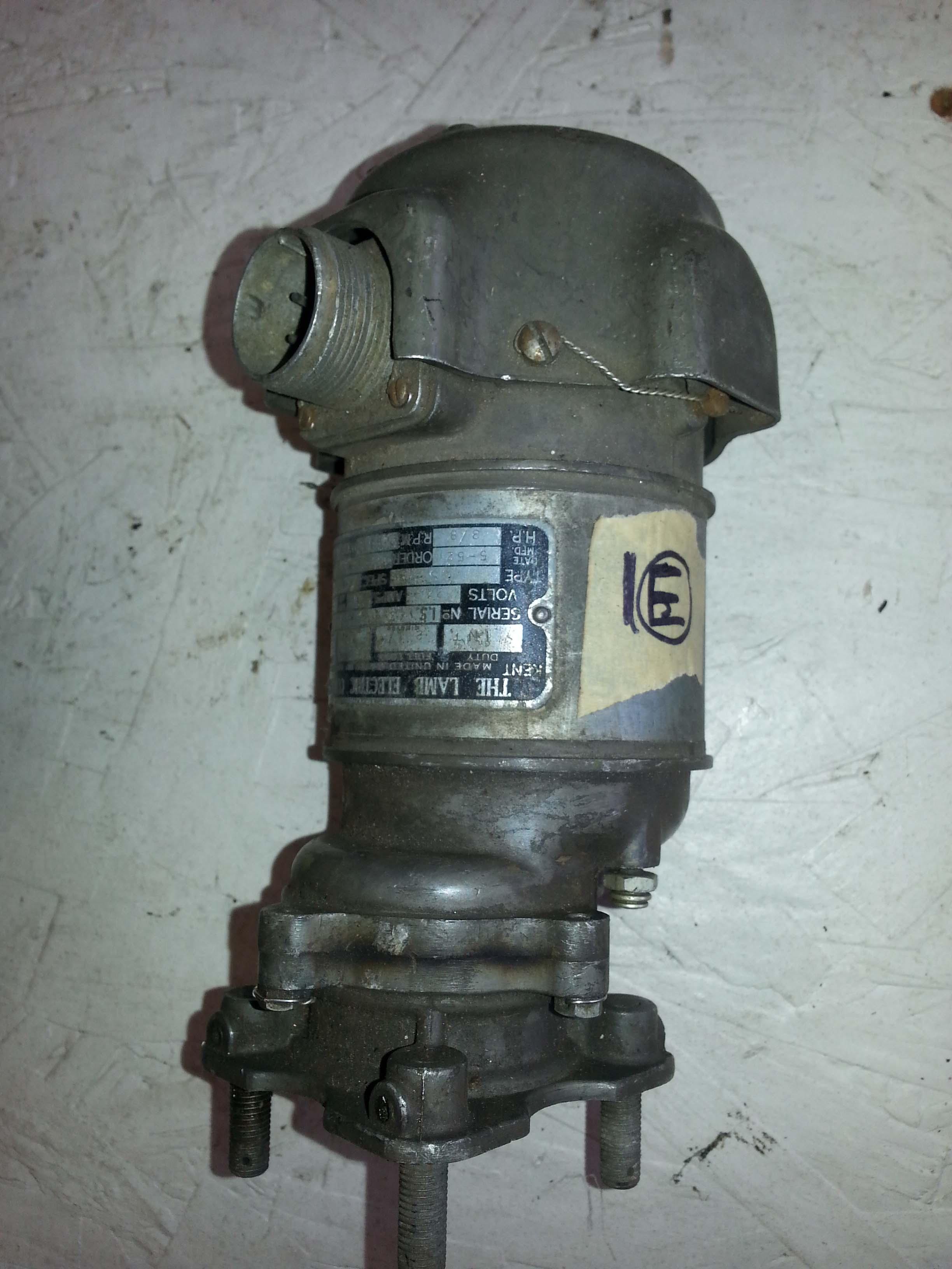 Fuel Pump Motor Lamb Electric Company 3 8hp The